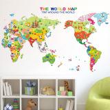 Beli Catwalk Dunia Hewan Peta Yang Dapat Dilepas Stiker Dinding Kamar Anak Aneka Warna International Murah Tiongkok