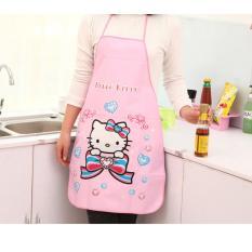 Celemek Dapur Karakter Kartun Lucu / Anti Air WaterProof Apron - Hello Kitty Pink
