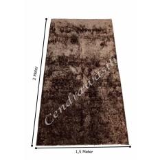 Review Cendra Karpet Cendol Glossy 200X150 Cm Coklat Cendra
