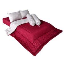 Harga Cendra Set Bed Cover Barbara Maroon Krem Fullset Murah