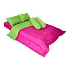 Jual Cendra Set Bed Cover Barbara Pink Hijau Online Indonesia