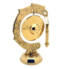 Central Kerajinan Miniatur Gamelan Gong Kuningan 15x10x6cm - Golden