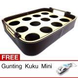 Beli Central Kerajinan Tatakan Aqua Gelas Tempat Aqua Air Mineral Dari Vinyl Coklat Cream 12 Lubang Gratis Gunting Kuku Mini Seken