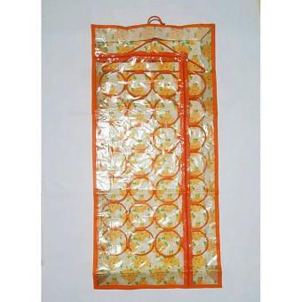 Central Ploso Hanging Hijab - Orange