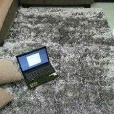 Central Ploso Karpet 150x100 Karpet Cendol Kilap Microfiber - GREY