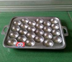 Cetakan kue bulat bola takoyaki 24 lubang alumunium cor