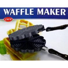 Cetakan kue waffle dan pancake maker 23 cm - anti lengket