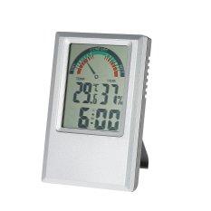 C/�F Digital Suhu Kelembaban Meter Alarm Clock Max Min Nilai Tingkat Kenyamanan Display-Intl