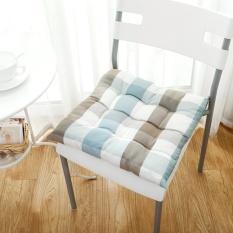 Kursi Cushion Skandinavia Modern Sederhana Kisi Tebal Musim Dingin Bantal Kursi Kantor Meja Non-Slip Cushion 40*40 CM-Intl