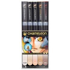 Spesifikasi Chameleon Pens Nada Warna 5 Pen Kulit Set Gradient Marker Intl Murah Berkualitas