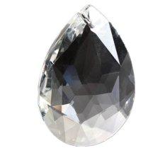 Chandelier Clear Kaca Lampu Kristal Faceted Petal Prism DROP Pendant 50mm 10 Pcs