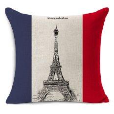 Cheap car seat linen cushion Nordic Vintage Euro style London Paris outdoor chair cushions home decor for sofas pillow MYJ-1619 - intl