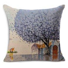 Cheap car seat linen cushion Nordic Vintage season trees outdoor chair cushions home decor for sofas pillow free ship MYJ-1607 - intl