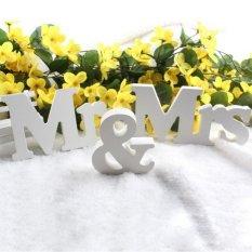 CHEER White Mr & Mrs Kayu Huruf untuk Dekorasi Pernikahan Sign Top Table Hadir Dekorasi-Intl