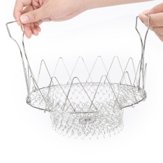 Berapa Harga Chef Fry Frying Basket Foldable Rinse Strain Poach Boil Basket Strainer Kitchen Intl Oem Di Tiongkok