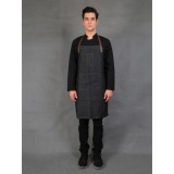 Toko Chef Series Gold Denim Full Panjang Apron Hitam Denim Lengkap Indonesia