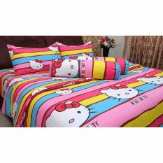Jual Chelsea Gold Seprei Motif Anak Kitty Rainbow Online Indonesia