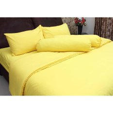 Toko Chelsea Set Bed Cover Microtex Polos Kuning Online Di Indonesia