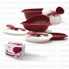 Beli Cherry Blossom Set Merah Wadah Penyajian Set Tupperware Dengan Harga Terjangkau