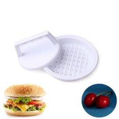 Chic Plastik Burger Tekan Hamburger Daging Sapi Grill Memasak Maker Kitchen Cetakan Putih-Intl