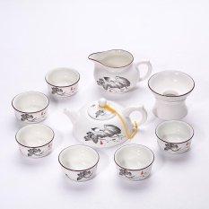 Ulasan Lengkap China Keramik Porselen Cina Kung Fu Tea Set Jingdezhen Matt Glaze Pot Teh Keramik 10 Pack Lotus Intl