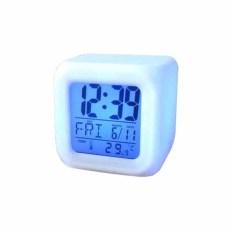 China Digital Clock / Jam Weker Kotak / Hiasan Lampu Meja 7 Warna