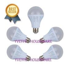 Harga Chinaware One Stop Lighting Led Bulbs E27 Fitting 12 Watt White Bright 5 Pcs Per Set China Online