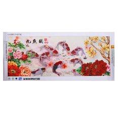 Intan Bordir Cina 5D Lukisan 9 Ikan Lintas Stitch Dekorasi Dinding Yang Dibetulkan-Intl