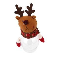 Christmas Candy Sugar Box Santa Elk Snowman Xmas Botol Jar Wadah Hadiah-Intl