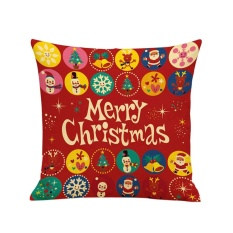Hari Natal Kartun Sofa Tempat Tidur Rumah Dekorasi Festival Bantal Bantal Bantalan Teluk Kecil-Internasional