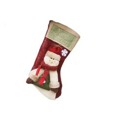 Christmas Cute 3D Snowman Hadiah Kaos Kaki Permen Pemegang Tas Perlengkapan Anjing Tas Hadiah Dekorasi Meja Xmas Stocking Gantungan Ornamen Pohon Natal Ukuran L- INTL