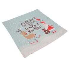 Natal Meriah Cushion Covers Sofa Rumah Dekorasi Linen Sarung Bantal Square-Internasional