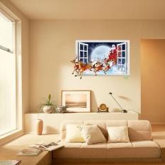 Natal Santa Claus Removable Furniture Vinyl Window Wall Sticker Dekorasi-Intl