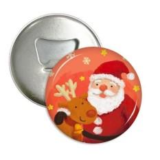 Natal Santa Klausa Kepingan Salju Rusa Besar Festival Sepanjang Pembuka Botol Magnet Kulkas Jarum Lencana Tombol Hadiah 3 Buah- internasional