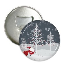 Natal Santa Klausa Kepingan Salju Pohon Sepanjang Pembuka Botol Magnet Kulkas Pins Lencana Tombol Hadiah 3 Pcs-Internasional