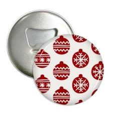 Hari Natal Kepingan Salju Tali Merah Festival Sepanjang Pembuka Botol Magnet Kulkas Pins Lencana Tombol Hadiah 3 Pcs-Internasional