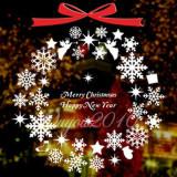 Harga Kepingan Kepingan Salju Natal Dekorasi Jendela Pintu Dinding Dekorasi Seni Yang Dapat Dilepas Stiker Putih Internasional Murah
