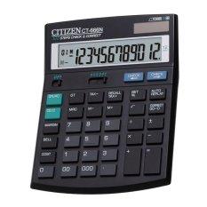 Spesifikasi Citizen Desktop Kalkulator Ct 666N Check Correct Hitam Online