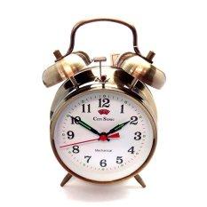 City Sonic WZ002-D Mekanis Tradisional Alarm Clock (Brassy)-Intl