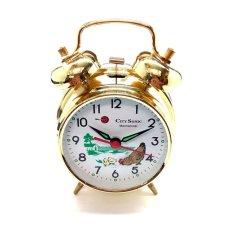 City Sonic WZ003-A Mekanis Tradisional Alarm Clock (Emas)-Intl