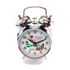 City Sonic WZ003-B Mekanis Tradisional Alarm Clock (Perak)-Intl