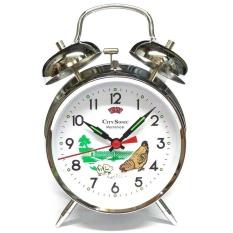 City Sonic WZ004-B Mekanis Tradisional Alarm Clock (Perak)-Intl