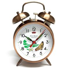 City Sonic WZ004-C Traditional Mechanical Alarm Clock (Bronze) - intl