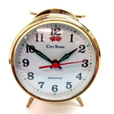 City Sonic WZ007-A Mekanik Alarm Clock (Emas)-Intl