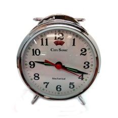 City Sonic WZ007-B Mekanik Alarm Clock (Perak)-Intl