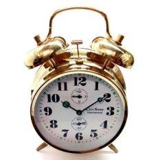 City Sonic WZ009-A Mechanical Alarm Clock (Gold) - intl
