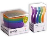 Harga Claris Bee Dan Toon Set Peralatan Makan Anak 12 Pcs Mix Color Terbaru