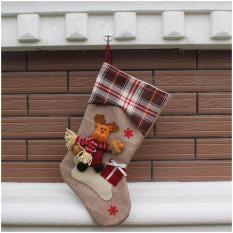 Classic Christmas Stocking Dekorasi Stocking Dekorasi Musiman Kidsgift Casing Kaos Kaki, Xmasdekorasi (Reindeer) Diou-Socks-0007-Intl