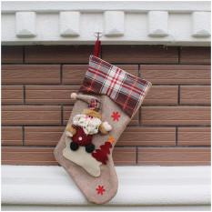 Classic Christmas Stocking Dekorasi Stocking Dekorasi Musiman Kidsgift Casing Kaos Kaki, Xmasdekorasi (Santa) Diou-Socks-0008-Intl