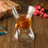 Kaca Klasik Pembuat Kopi Chemex Gaya Pour Over Coffeemaker 400 Ml 3 Cangkir Internasional Tiongkok Diskon
